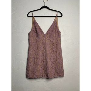 NWT Free People Wisteria Lace V Neck Tank Top 12
